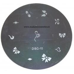 Disco Nail Stamping - DISC-10
