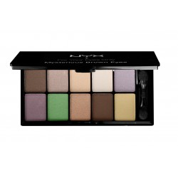 10 Color Eyeshadow Palette Mysterious Brown Eyes - NYX