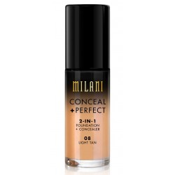 Conceal + Perfect Light Tan 08 - 2-in-1 Foundation + Concealer - Milani