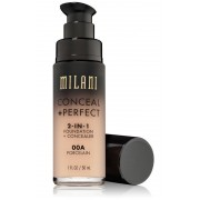 Conceal + Perfect Porcelain 00A - 2-in-1 Foundation + Concealer - Milani