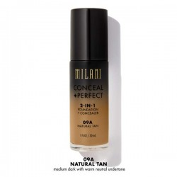 Conceal + Perfect Natural Tan 09A - 2-in-1 Foundation + Concealer - Milani