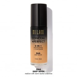 Conceal + Perfect Deep Beige 06A - 2-in-1 Foundation + Concealer - Milani